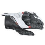(CLEARANCE) DRIRIDER RAPID LEATHER GLOVES - BLACK/WHITE