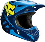 FOX 2016 V1 RACE HELMET - BLUE/YELLOW