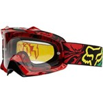 (CLEARANCE) FOX AIR SPACE GOGGLES - ENCORE RASTA WITH CLEAR LENS