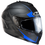 HJC IS-17 ECE Mission Helmet - Black/Blue