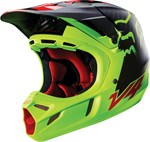 (CLEARANCE SALE) - FOX 2016 V4 CARBON HELMET - LIBRA YELLOW