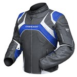 (CLEARANCE) DRIRIDER SPEED 2 TEXTILE JACKET - BLACK/BLUE