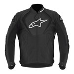 (CLEARANCE SALE) - Alpinestars Jaws Leather Jacket - Black (non-perforated)