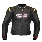 (CLEARANCE SALE) - Arlen Ness Saviour CE Leather Jacket - Black/Red