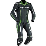2018 IXON VORTEX 1-PIECE PERFORATED LEATHER RACE SUIT BLACK/GREEN