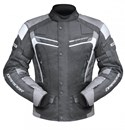 DRIRIDER APEX 3 WATERPROOF TEXTILE JACKET - BLACK / WHITE / GREY