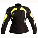(CLEARANCE SALE) - RST BROOKLYN Waterproof LADIES TEXTILE JACKET - Black/Yellow