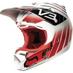 (CLEARANCE SALE) - FOX 2015 V3 SAVANT MOTOCROSS HELMET - RED