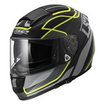 (CLEARANCE) LS2 FF397 VECTOR ECE VANTAGE HELMET - BLACK/YELLOW