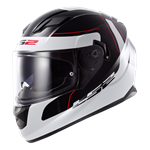 (CLEARANCE SALE) - LS2 FF320 Stream Helmet - Lunar White Black
