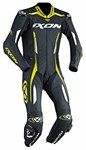 2018 IXON VORTEX 1-PIECE PERFORATED LEATHER RACE SUIT BLACK/YELLOW