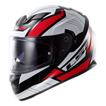 (CLEARANCE SALE) - LS2 FF320 Stream Helmet - Omega Black White Red
