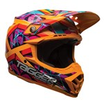 (CLEARANCE) Bell Moto-9 ECE Tagger Orange Helmet 2017
