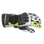 DRIRIDER AIR-PRO LEATHER GLOVES - BLACK/WHITE/YELLOW