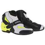 Alpinestars SMX 1R Boots - White/Yellow Vented