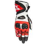 ALPINESTARS SUPERTECH GLOVES - BLACK/WHITE/RED