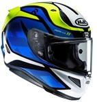 HJC RPHA-11 ECE MC-2 HELMET - DEROKA - BLUE YELLOW