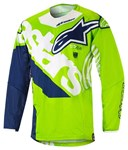 Alpinestars 2018 Youth Racer Venom Jersey - Green Fluo/White/Dark Blue