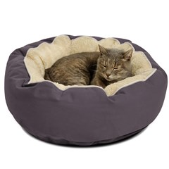 Cat Cuddler, round bed for cats with comfy sherpa inner. $30 off.