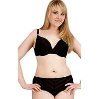 Plus Size Bra and Panty Set Black Shaped Underwired
