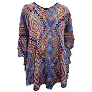 Tribal Inspired Kaftan Plus Size Cover Up Long Top