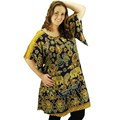 Navy Plus Size Swimwear Cover Up Dress Tunic Long Top