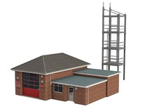 Bachmann OO scale Fire Station Plus Tower