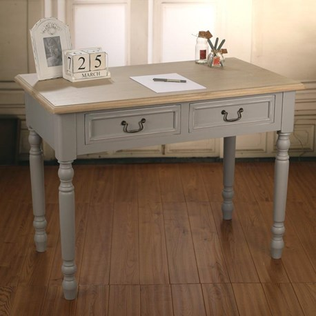 Desk Grey / Antique White Top - 'Hunter'