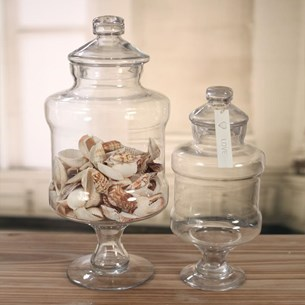 Glass Jars Straight Side - Two Sizes
