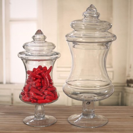 Glass Jars Concave - Two Sizes