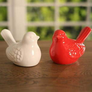 Ceramic Birds - red or white