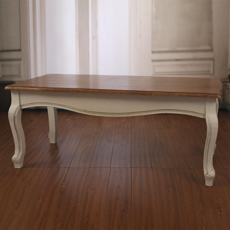 Coffee Table Birch Veneer Top 'Louis'