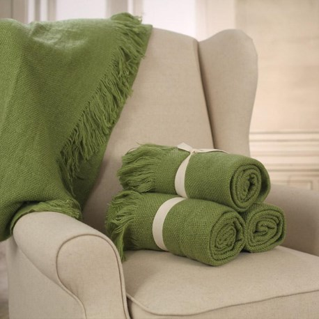 Throw Rug Soft Touch Lime