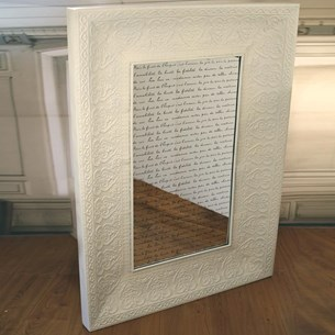 French Script Mirror 1.8 x 1.2m - Cream