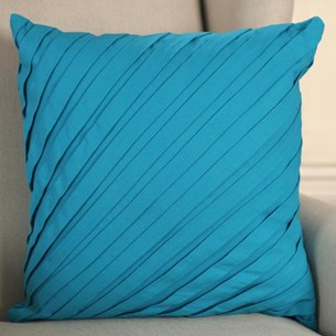 Pleated Teal Cushion