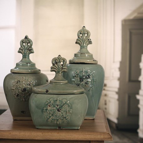'Antique Brooch' Canisters - Three Designs