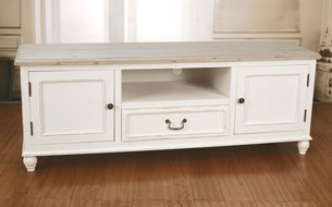 Entertainment Unit 'Hunter' - Antique White