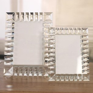 Bevilled Crystal Photo Frames - Two Sizes