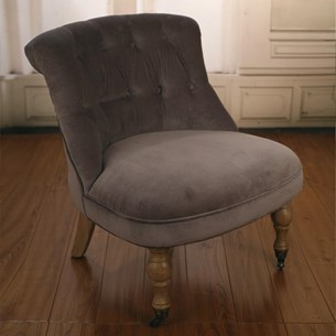 The Bedroom Chair - Grey Velvet