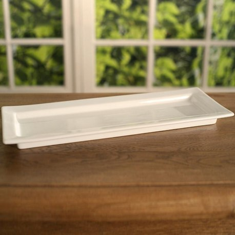 White Ceramic Serving Tray (long)