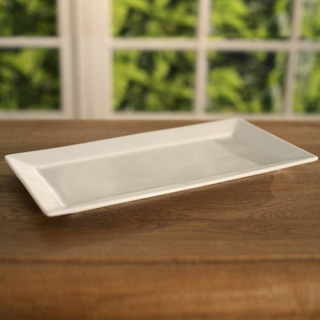 White Ceramic Serving Tray (smooth)