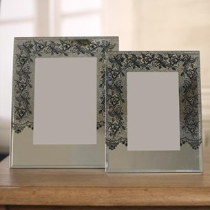'Black Lace' Photo Frames - Two Sizes