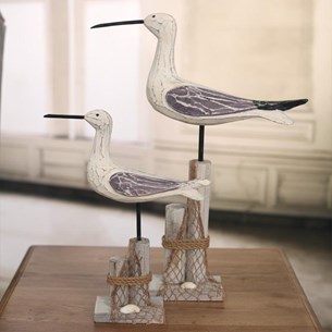 Carved Wooden Seagulls - Two Sizes