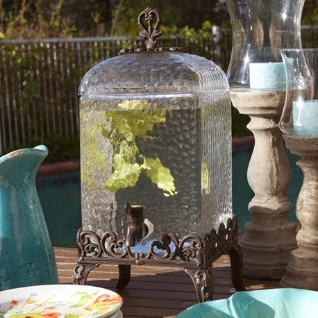 Wrought Iron Drink Dispenser