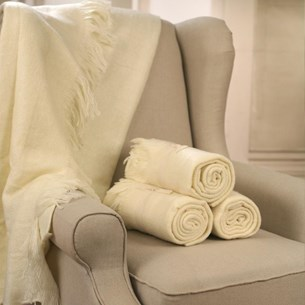 Throw Rug Soft Touch Cream