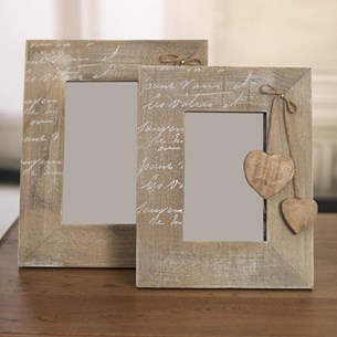 'Hanging Heart' Photo Frames