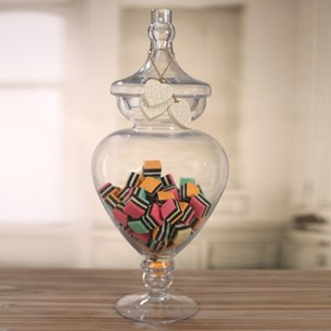 Glass Jar Curved - 43cms