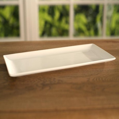 White Ceramic Serving Tray - 27cms
