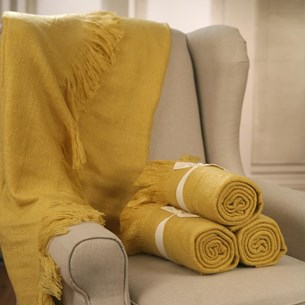 Throw Rug Soft Touch Mustard