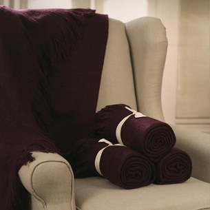 Throw Rug Soft Touch Aubergine